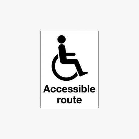 Plastic 400x300mm Accessible Route & Disabled Signs
