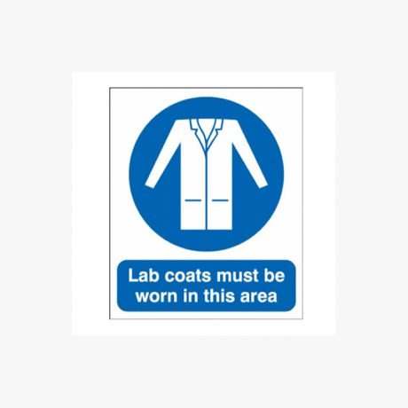 Lab Coats Must Be Worn Signs
