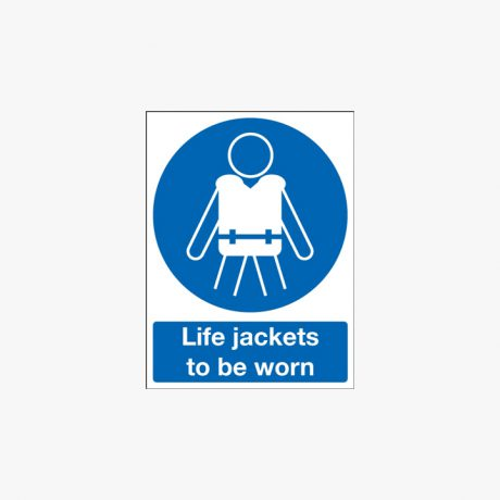 Life Jackets To Be Worn Signs