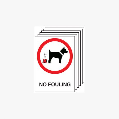 Multipack 6 Self Adhesive Plastic A4 No Fouling Signs