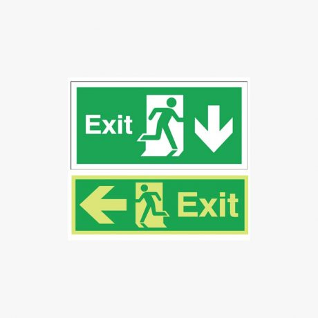 Night Glow Exit Arrows