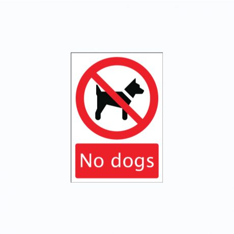 No Dogs Signs SAP A3