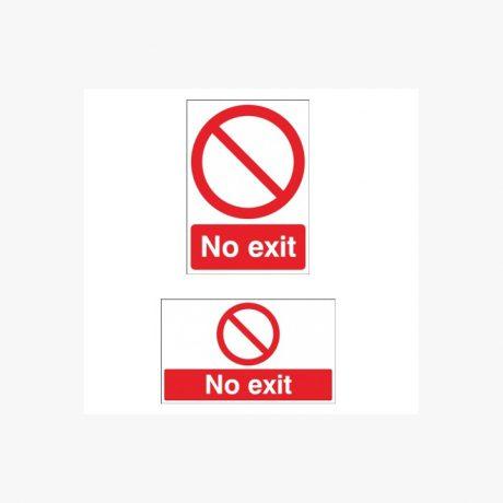 No Exit Signs