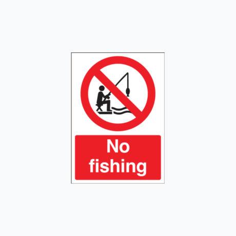 No Fishing Plastic Signs 300 x 400 mm