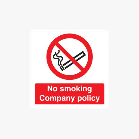 No Smoking Company Policy Signs