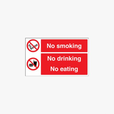 300x300mm No Smoking No Drinking Self Adhesive Plastic Signs