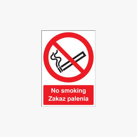No Smoking Signs Zakaz Palenia (Polish)