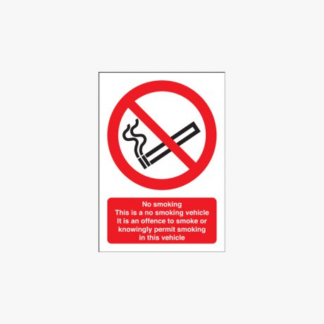 No Smoking Vehicle Stickers