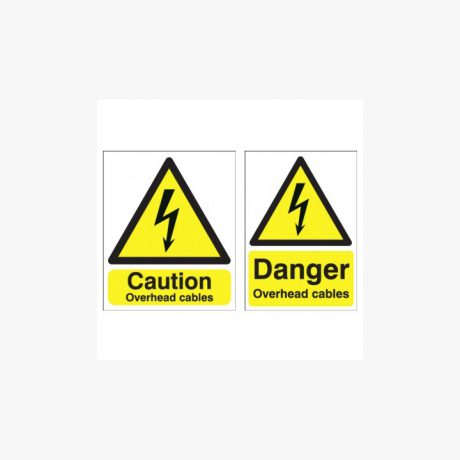 Overhead Cables Signs