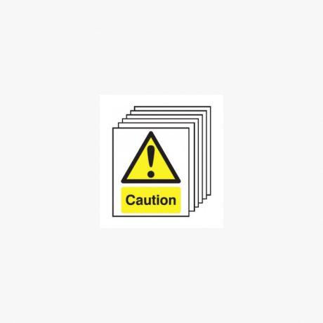 Plain Caution Signs