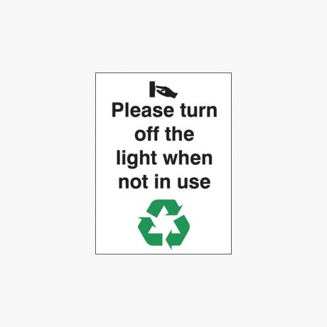 Plastic 200x150mm Please Turn Off The Light When Signs