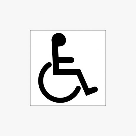 Plastic 150x150mm Disabled Toilet Symbol Signs