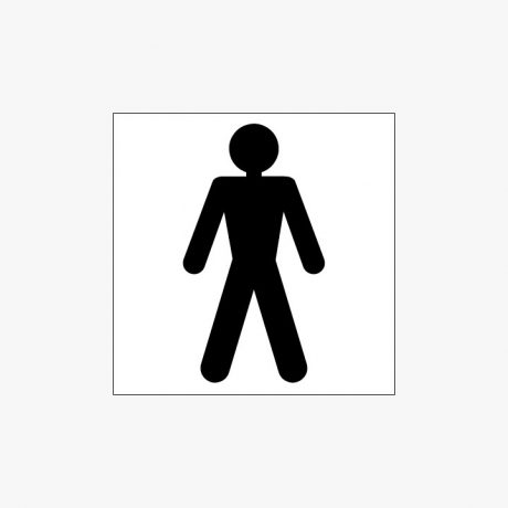 Plastic 150x150mm Gents Toilet Symbol Signs