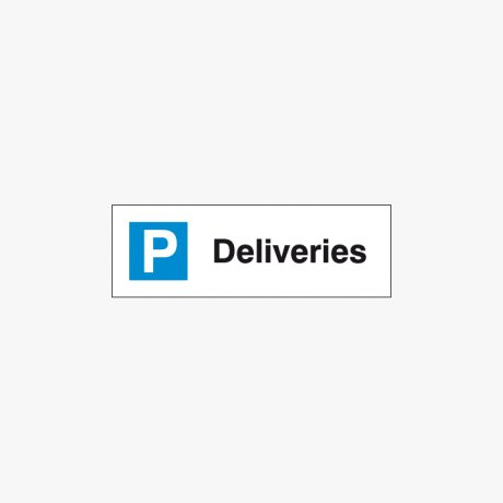 Plastic 200x600mm Deliveries Signs