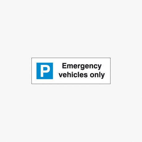 Plastic 200x600mm Emergency Vehicles Only Signs