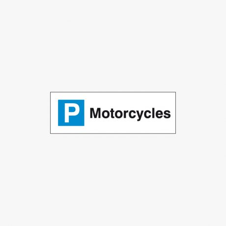 Plastic 200x600mm Motorcycles Signs