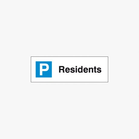 Plastic 200x600mm Residents Signs