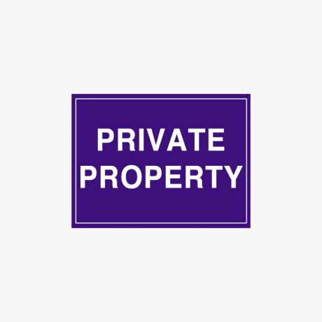 Plastic 300x400mm Private Property Signs