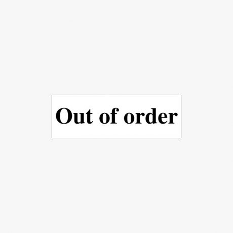 Plastic 50x150mm Out Of Order Signs