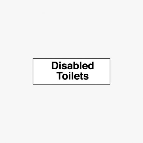 Plastic 50x200mm Disabled Toilets Signs