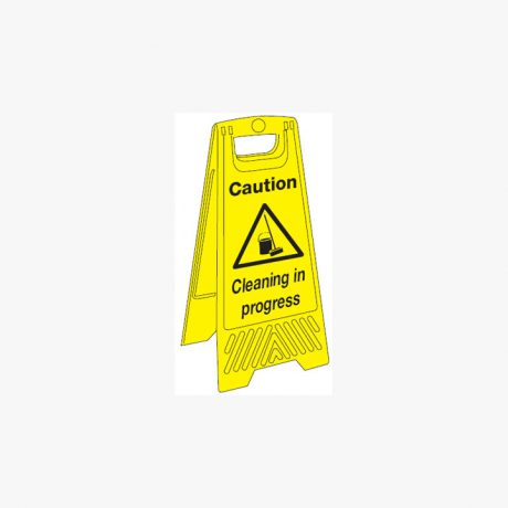 Plastic 680x300mm Caution Cleaning In Progress Signs
