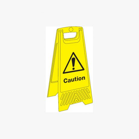 Plastic 680x300mm Caution Signs