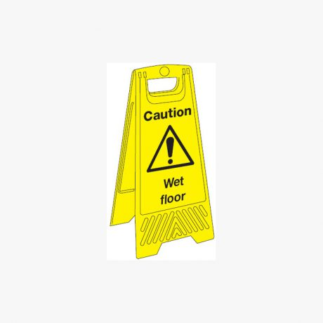 Plastic 680x300mm Caution Wet Floor Signs