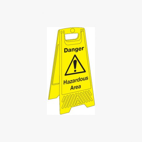 Plastic 680x300mm Danger Hazardous Area Signs