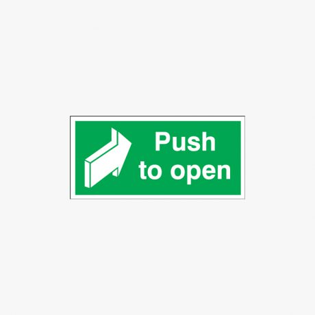 Push To Open Self Adhesive Plastic 100x200mm Signs