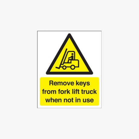 Remove Keys From Forklift Truck Signs
