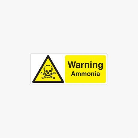 Plastic 100x250mm Warning Ammonia Signs