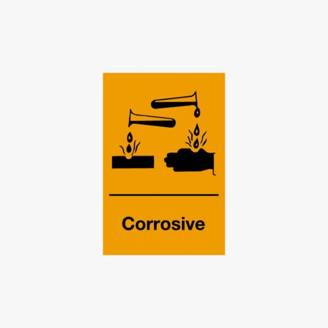 Self Adhesive 150x100mm Corrosive Signs