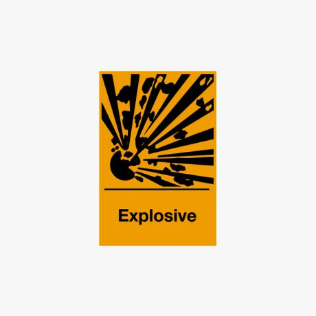 Self Adhesive 150x100mm Explosive Signs