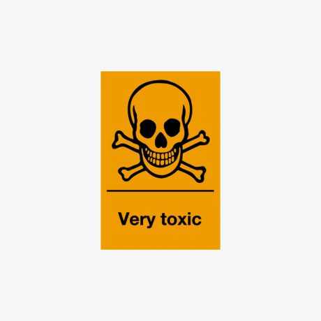 Self Adhesive 150x100mm Very Toxic Signs
