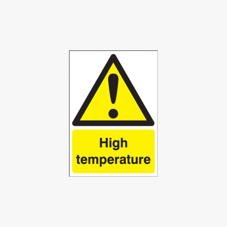 Self Adhesive Plastic 400x300mm High Temperature Signs