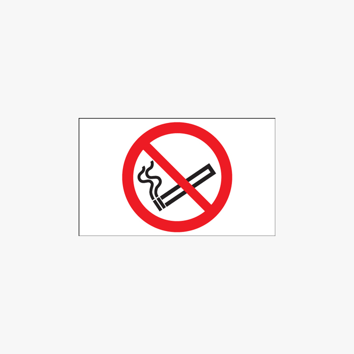 Plastic 100x200mm No Smoking Signs
