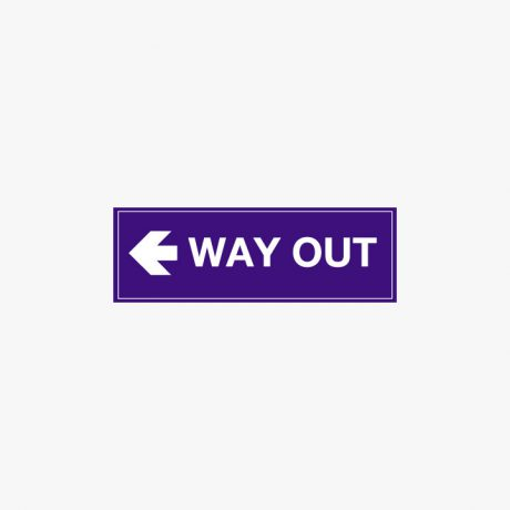 Plastic 150x450mm Way Out Left Signs