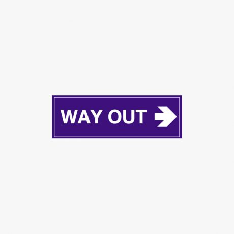 Plastic 150x450mm Way Out Right Signs