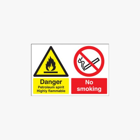 Self Adhesive Plastic 400x600mm Danger Petroleum Spirit Highly Signs