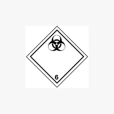 Self Adhesive 300x300mm Infectious Substance 6 Signs
