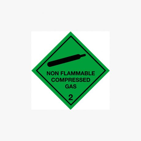Self Adhesive 300x300mm Non-Flammable Compressed Gas 2 Signs