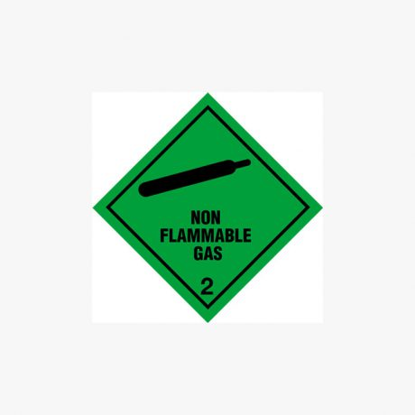 Self Adhesive 300x300mm Non-Flammable Gas 2 Signs