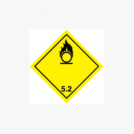 Self Adhesive 300x300mm Oxidizer 5.2 Symbol Only Signs