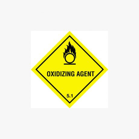 Self Adhesive 300x300mm Oxidizing Agent 5.1 Signs