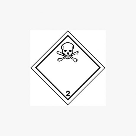 Self Adhesive 300x300mm Poisonous Gas 2 Hazard Warning Signs