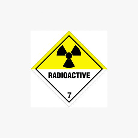 Self Adhesive 300x300mm Radioactive 7 Signs