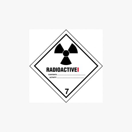 Self Adhesive 250x250mm Radioactive I 7 Signs