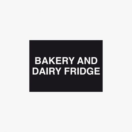 Plastic 210x148mm (A5) Bakery And Dairy Fridge Signs