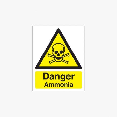 Plastic 250x200mm Danger Ammonia Signs