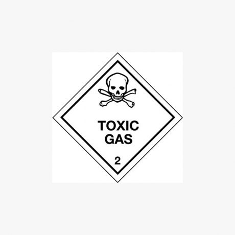 Self Adhesive 250x250mm Toxic Gas 2-Ob Signs